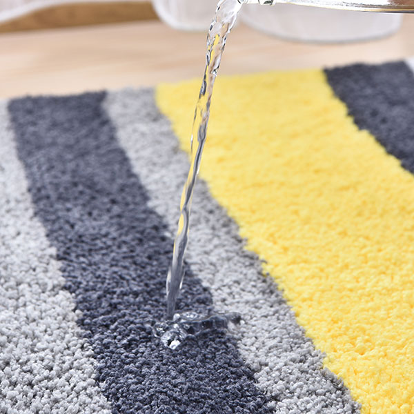 Eco-Friendly Stripe doux Absorbant Tapis de bain