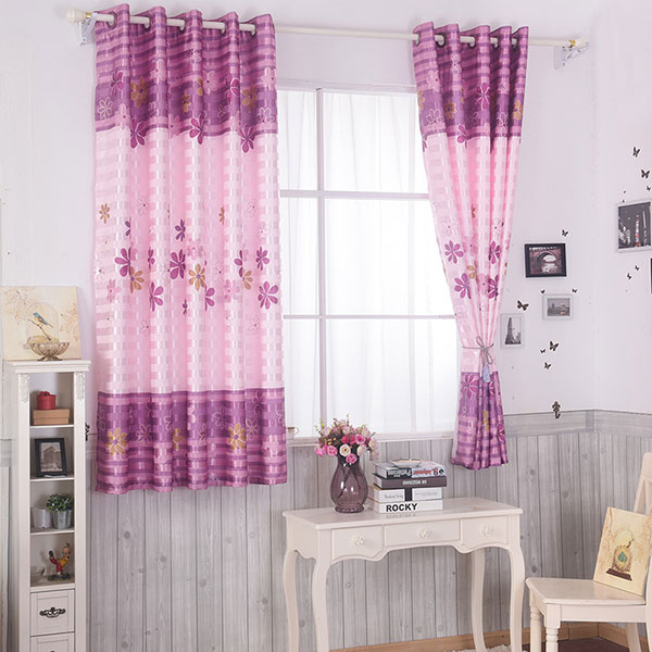 Shading Floral Print Window Blackout Curtain Pour Chambre