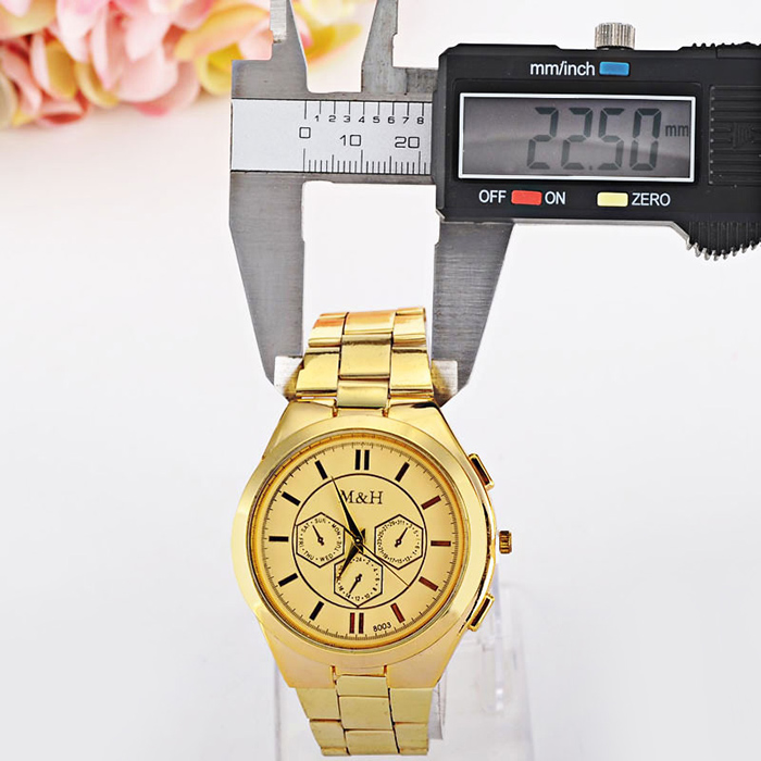 Alloy Strap Analog Wrist Quartz Watch