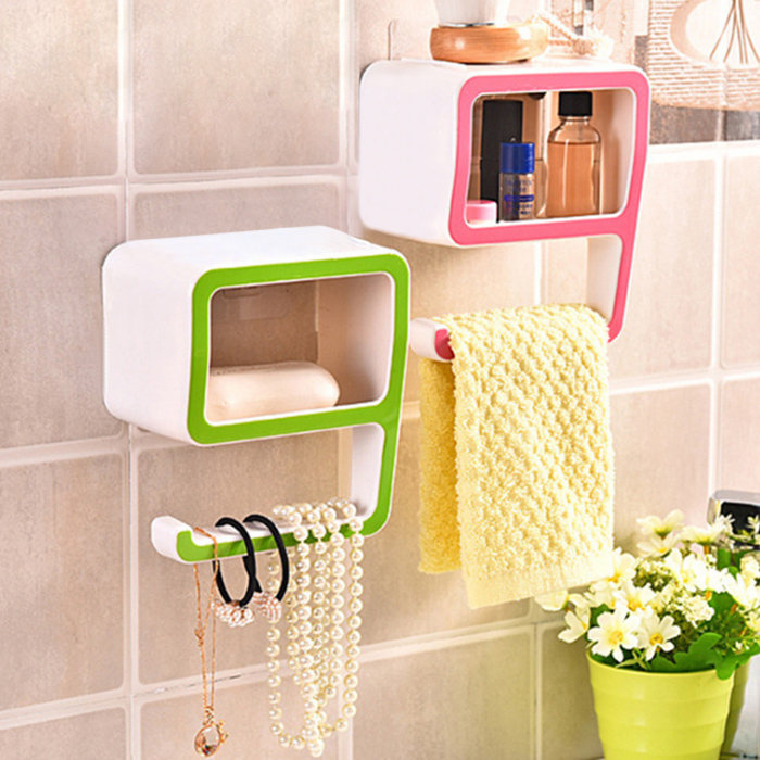 Forme créatif Nombre Bathroom Wall Shelf