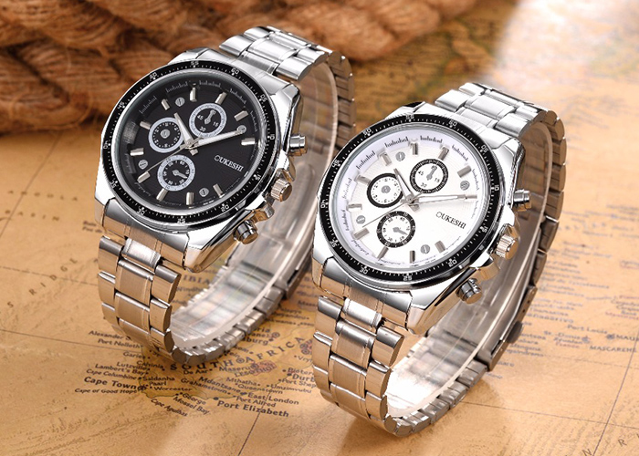 OUKESHI Steel Strap Formal Quartz Watch