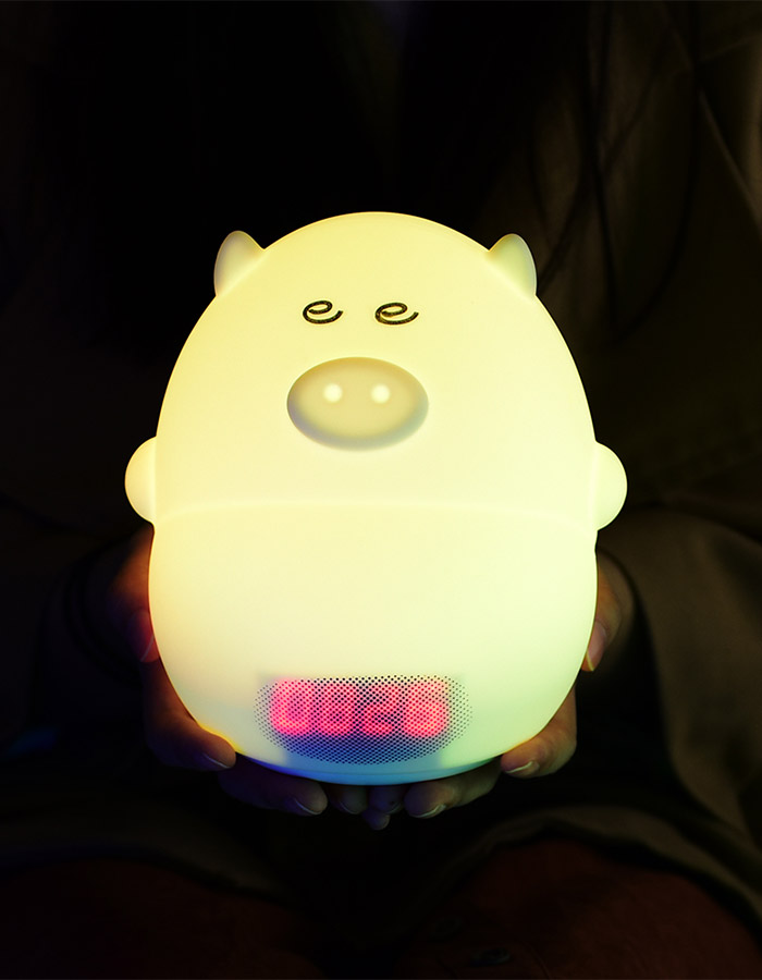 LED Color Change Night Light with Alarm Clock