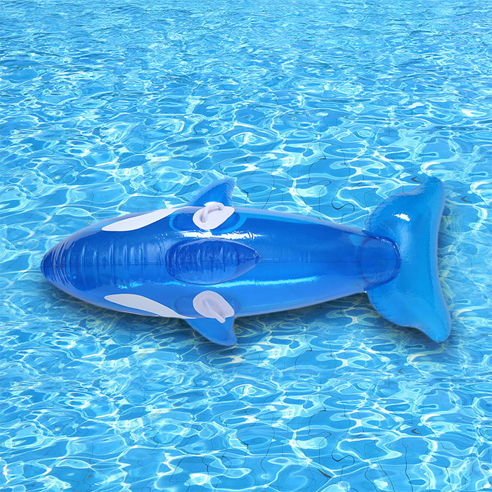 Inflatable Whale Shape Floating Ride on Toy with Handle