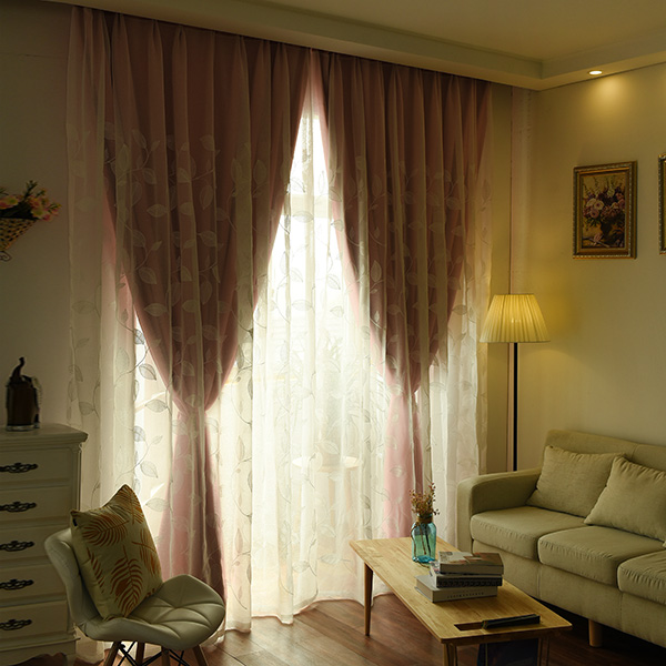 Princess Double Layers Blackout et Tulle Curtains