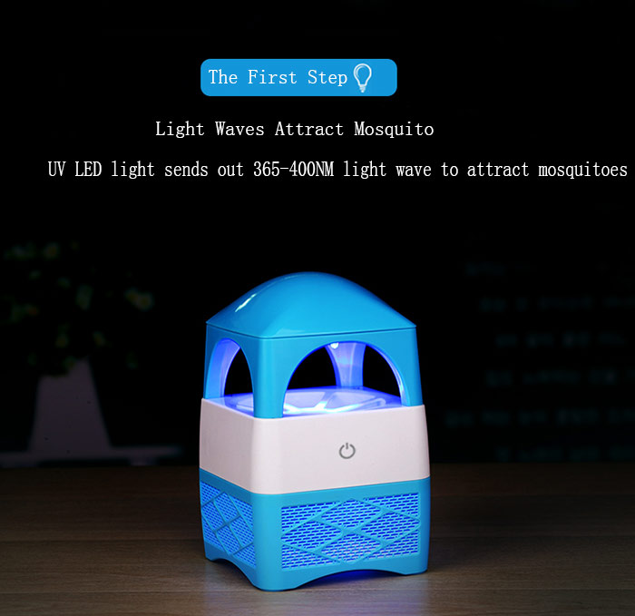 Household Mute Indraft Vortex Fan Type USB Mosquito Killer Lamp Tower