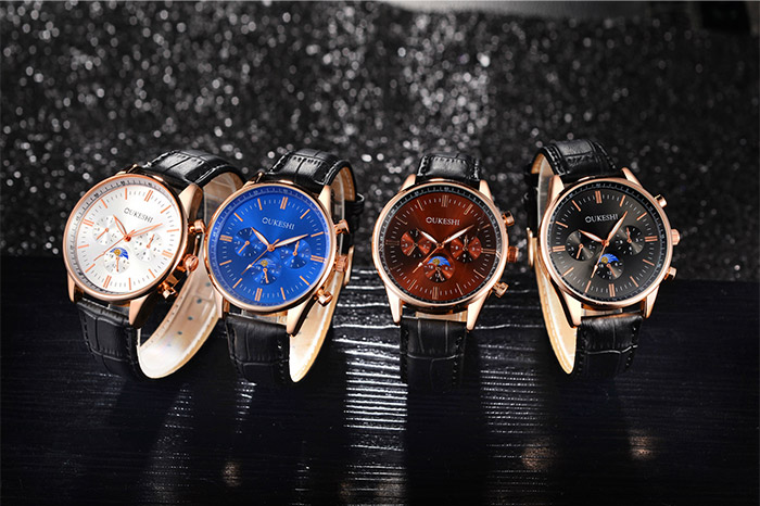 Faux Leather Wrist Quartz Watch
