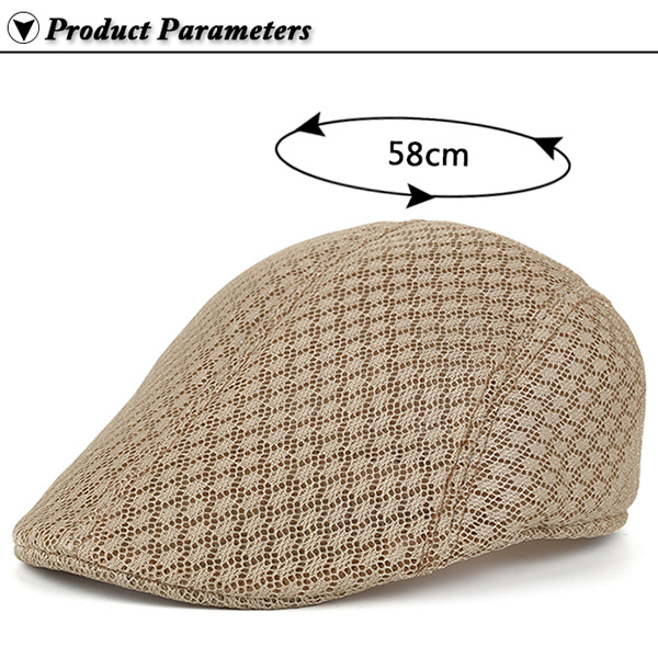 Hollow Out Mesh Breathable Newsboy Hat