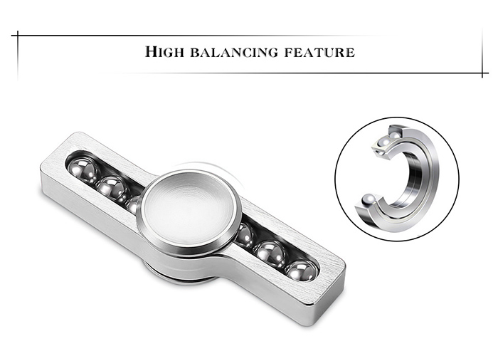 Stress Relief Toy Metal Balls Gyro Finger Spinner
