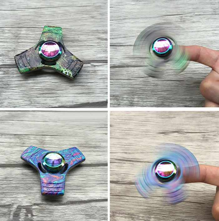 Colorful Triangle Fidget Spinner Stress Relief Toy