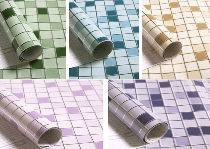 SINMORS Mosaic Greaseproof Paper Oil Tea Kitchen Wall Stickers