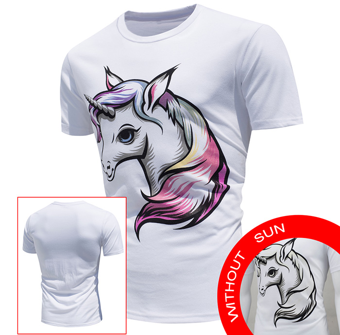 Horse Printed Color Changing T-Shirt