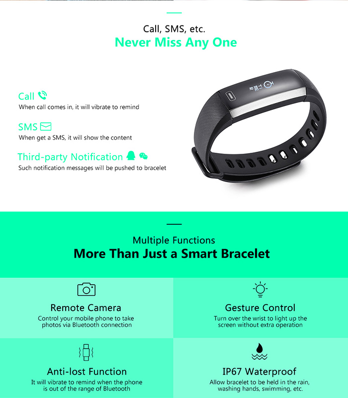 M2 Smart Bracelet with Blood Pressure Oxygen Measure Heart Rate Monitor