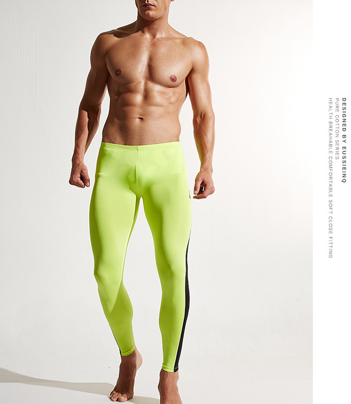 Color Block Tights Skin Athletic Pants