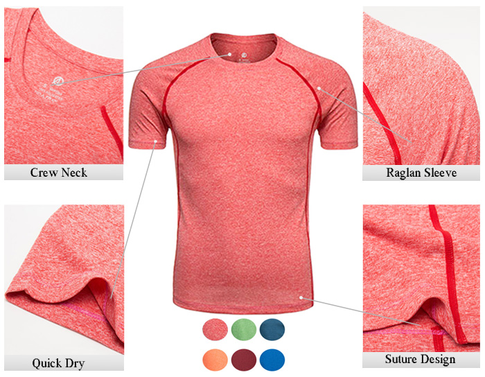 Crew Neck Raglan Sleeve Quick Dry Training T-shirt