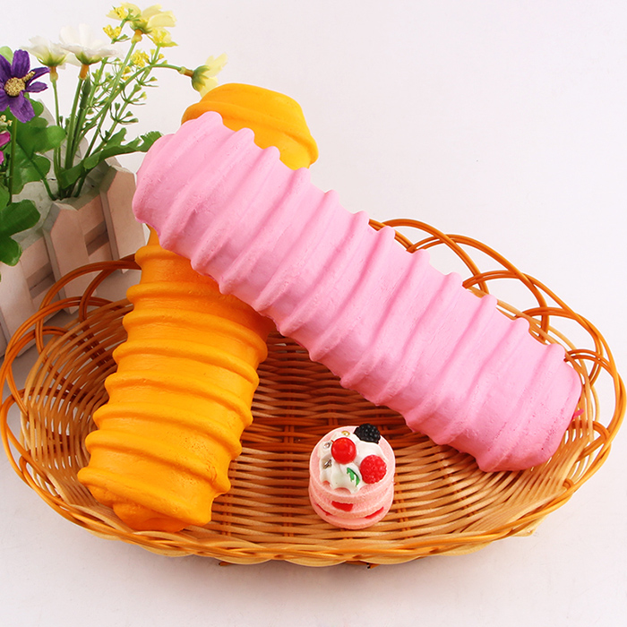 1Pcs Slow Rising Caterpillar Bread Squishy Toy