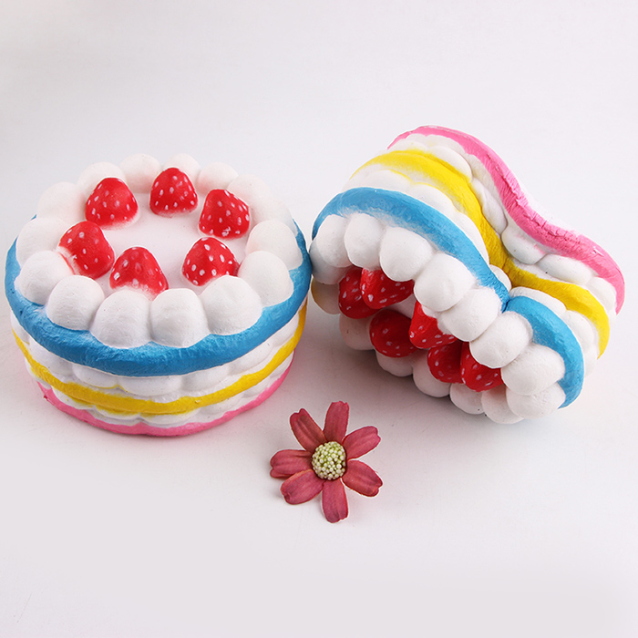 Squishy Cake Toy Target : 1Pcs Strawberry Cake Slow Rising Squeeze Squishy Toy in Blue Sammydress.com