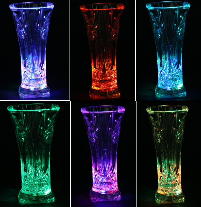 Bar KTV Party Colorful LED Flashing Juice Drink 400ml Cup
