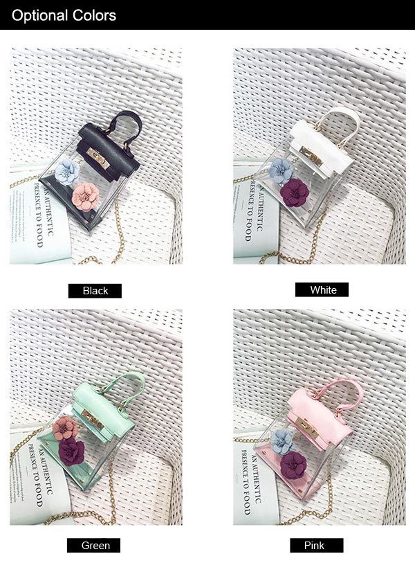 Flower Mini Shoulder Clear Handbag