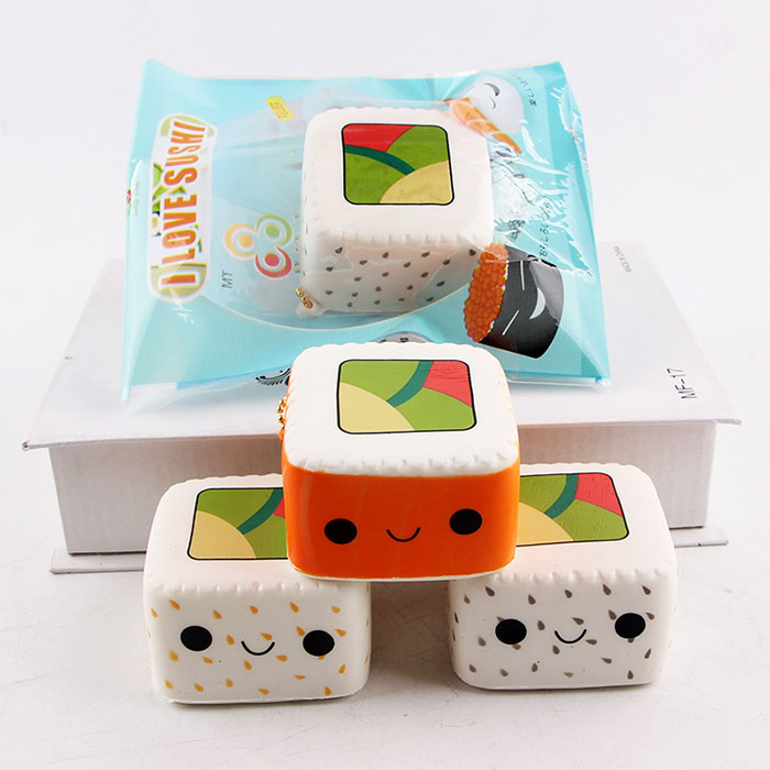 Dibujos animados Squishy Sushi Slow Rising Toy