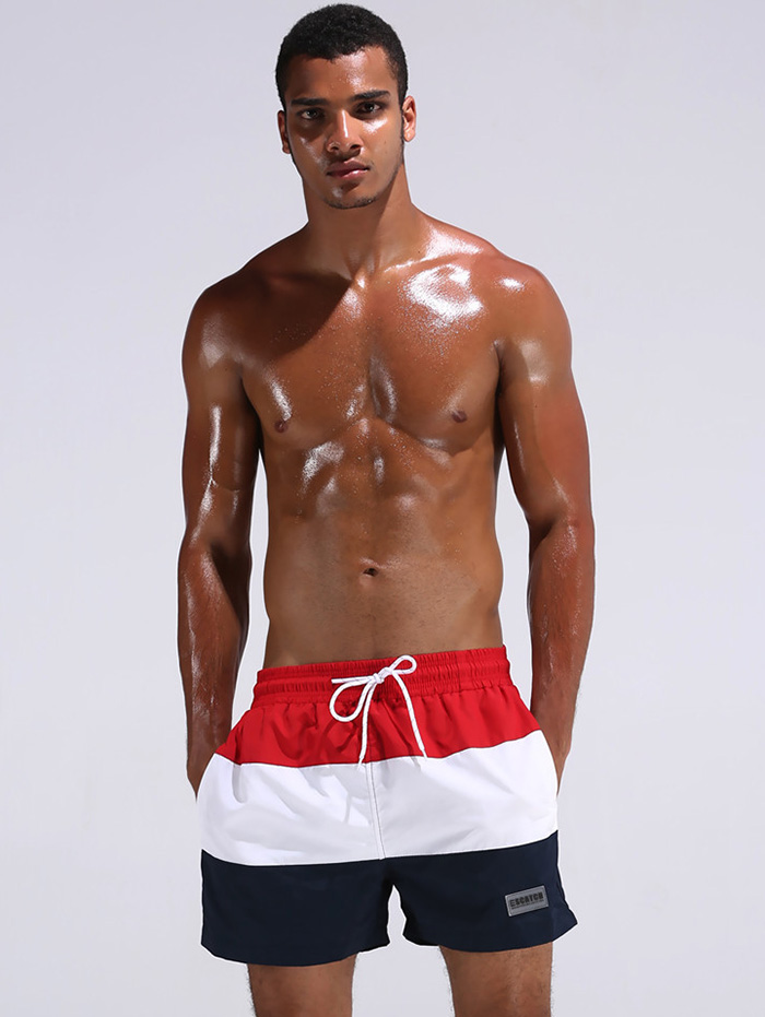 Summer Vacation Drawstring Swim Trunks
