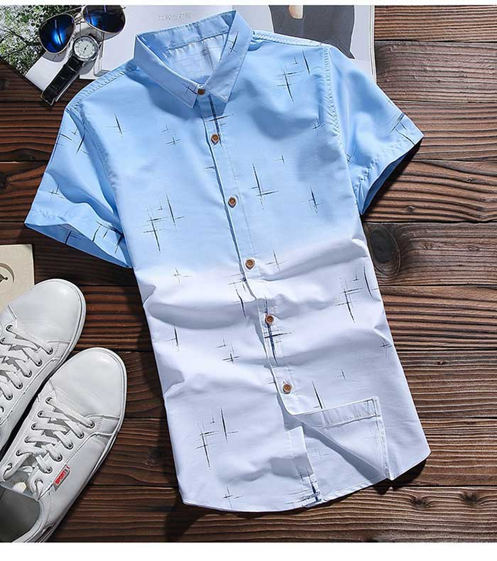 Dip Dye Short Sleeve Shirt