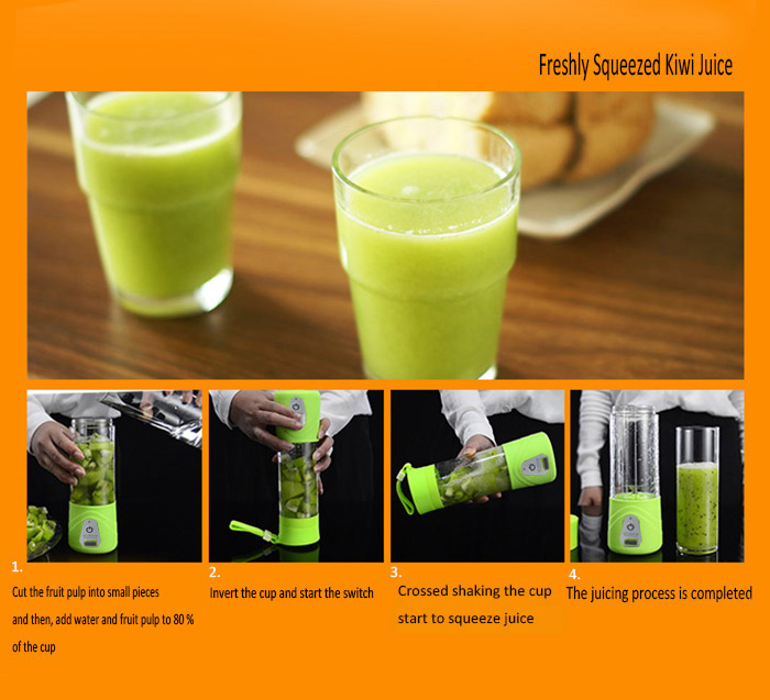USB Charge Healthy Fruit Stirring Multifunctional Juicer Cup