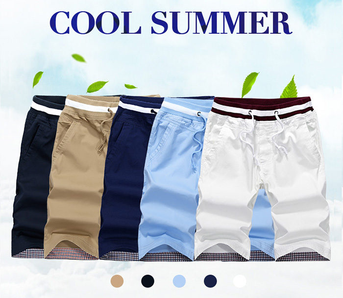 Drawstring Elastic Waist Pocket Shorts