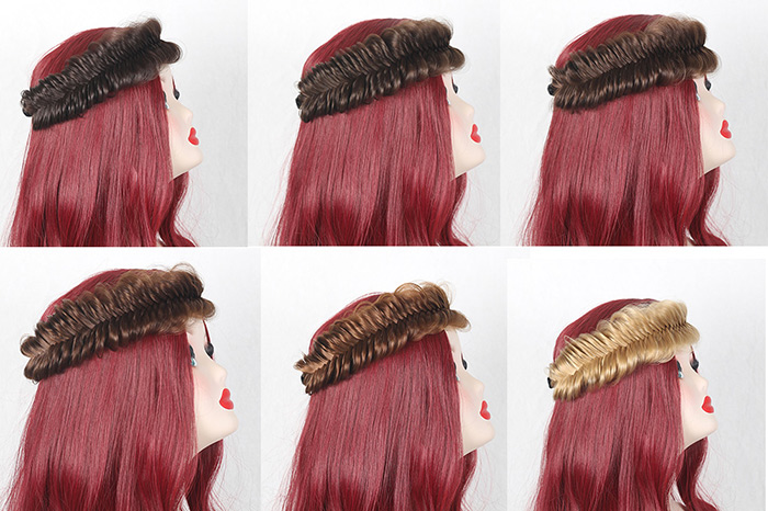 Fishbone Shape Colormix Large Braided Headband Hair Extension