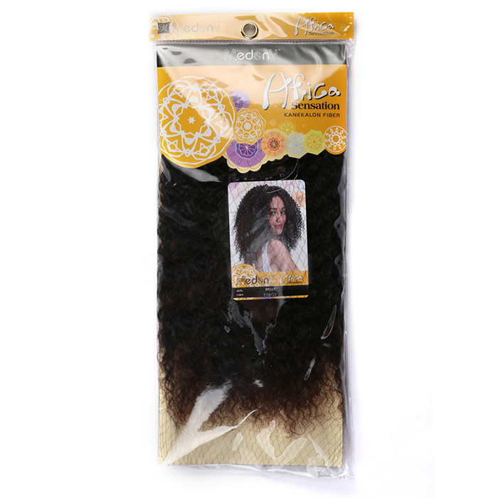 Medium Shaggy Afro Kinky Curly Synthetic Hair Weft