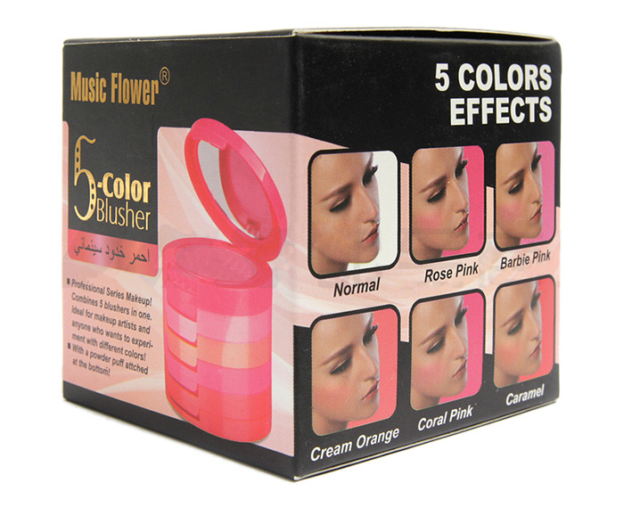 5 Color Beauty Makeup Blusher With Brush