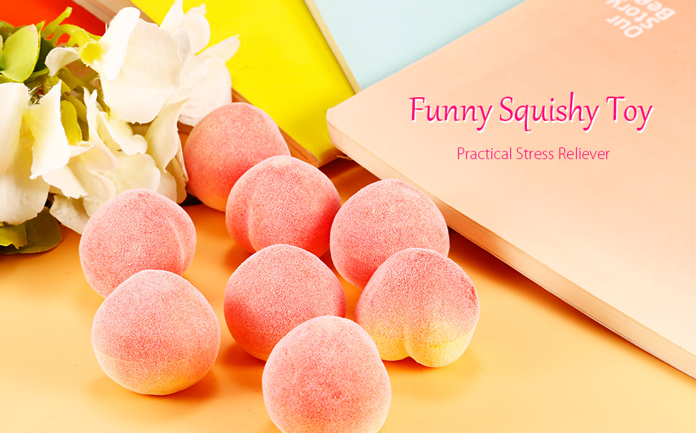 100 Pcs PU Simulation Peach Slow Rising Squishy Toy