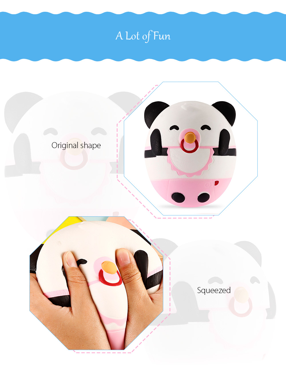 Nose Ring Panda Slow Rising Squishy Toy Simulation Animal