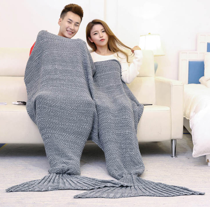 Knitted Mermaid Throw Blanket For Lovers
