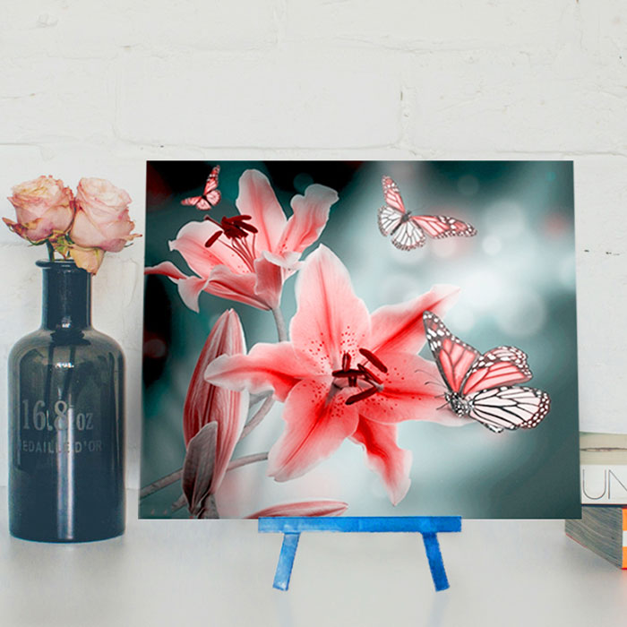 Butterfly Flower DIY 5D Resin Diamond Paperboard Painting