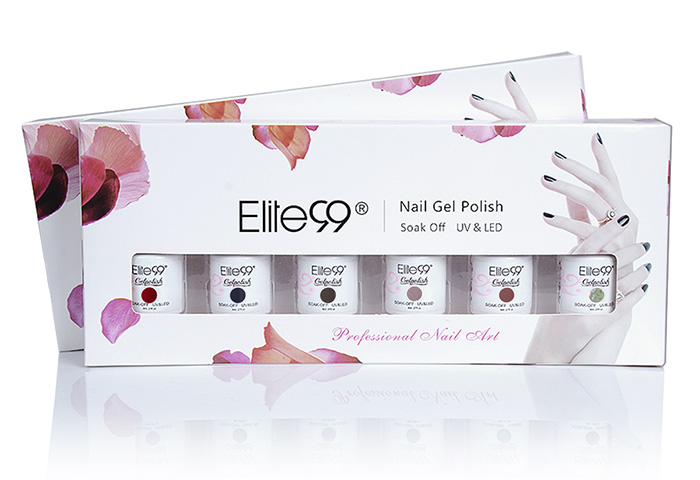 Ensemble de Vernis à Ongles Gel Laque Elite99 UV LED 6 Couleurs