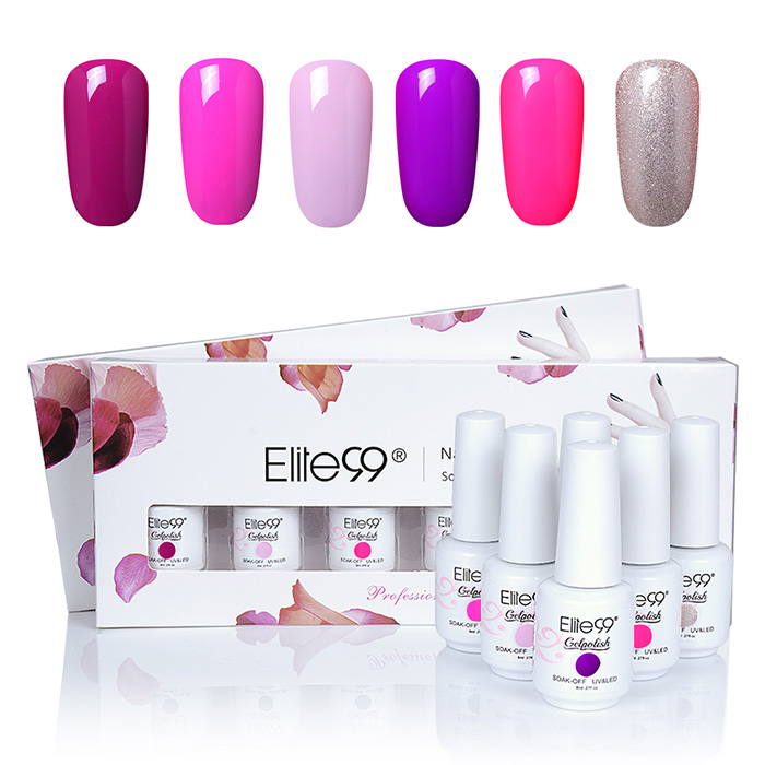 Elite99 6 Couleurs Kit Vernis à Ongles Gel UV