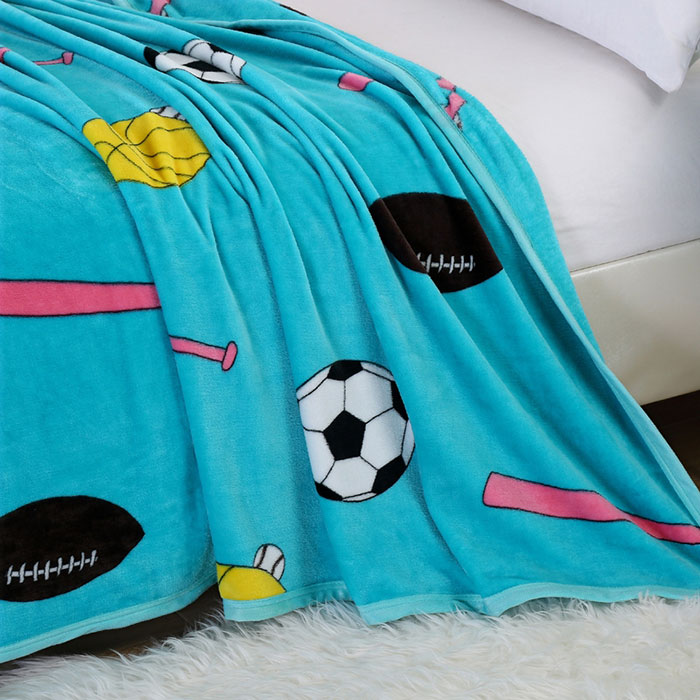Fútbol Imprimir Sport Soft Throw Blanket