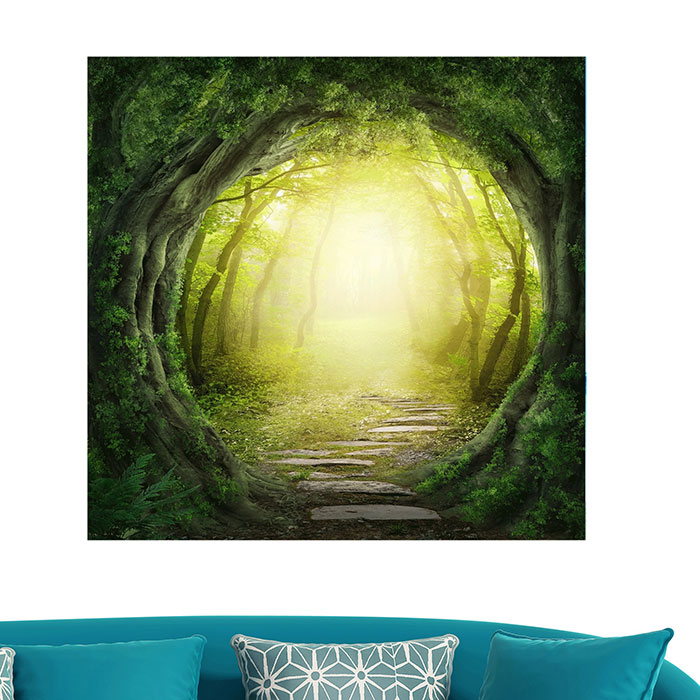 Tree Hole Imprimé Multifonction Stick-on Wall Art Painting