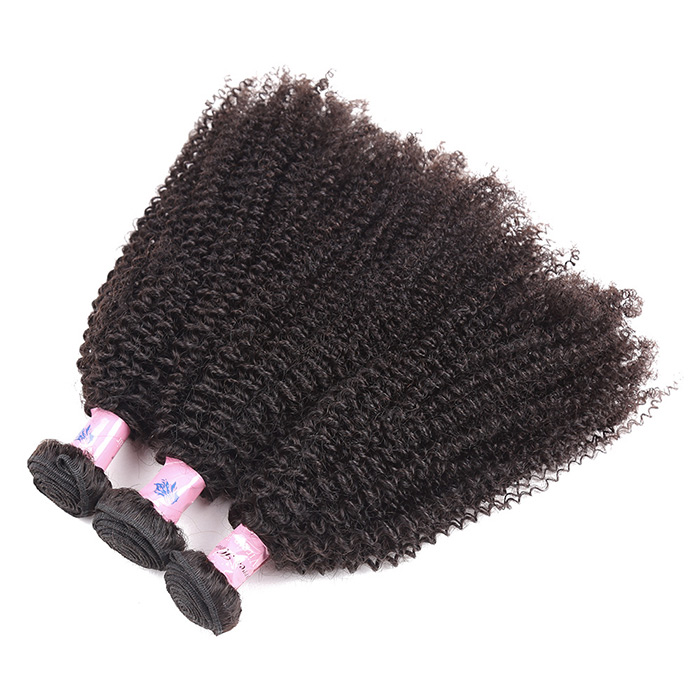 1Pc Fluffy Afro Kinky Bouclés Péruvienne Cheveux Humains Weave