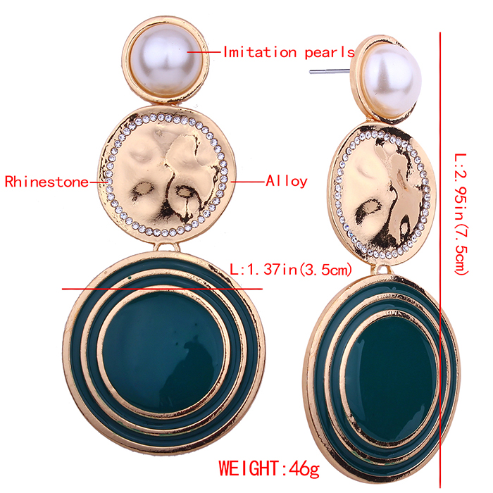 Boucles d'oreilles Vintage Overstate Big Circle