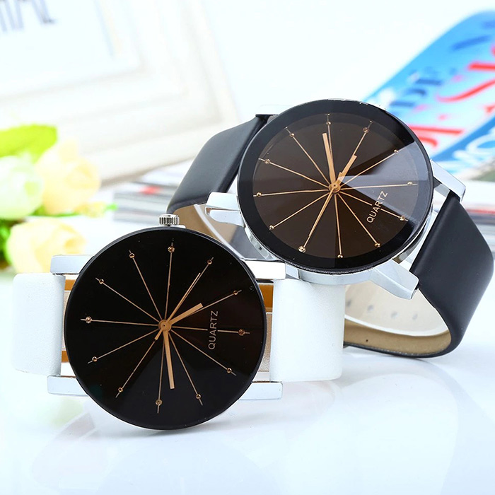 Ray Face Faux cuir montre