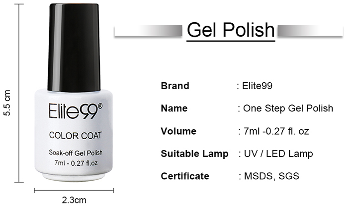 7 ml 3 en 1 UV Vernis à Ongle Gel à Faire Tremper
