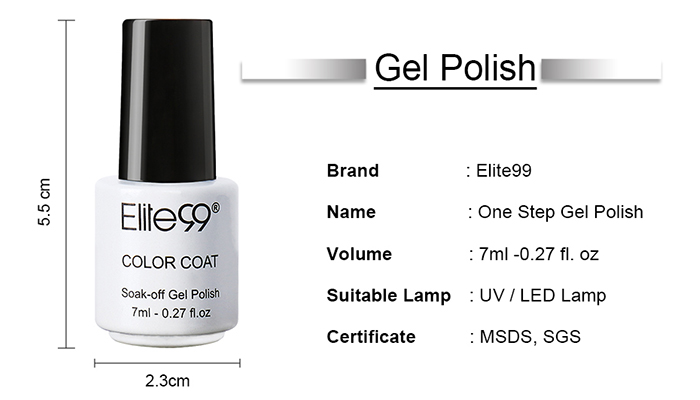 7 ml Vernis à Ongle Gel à Tremper Super Brillant