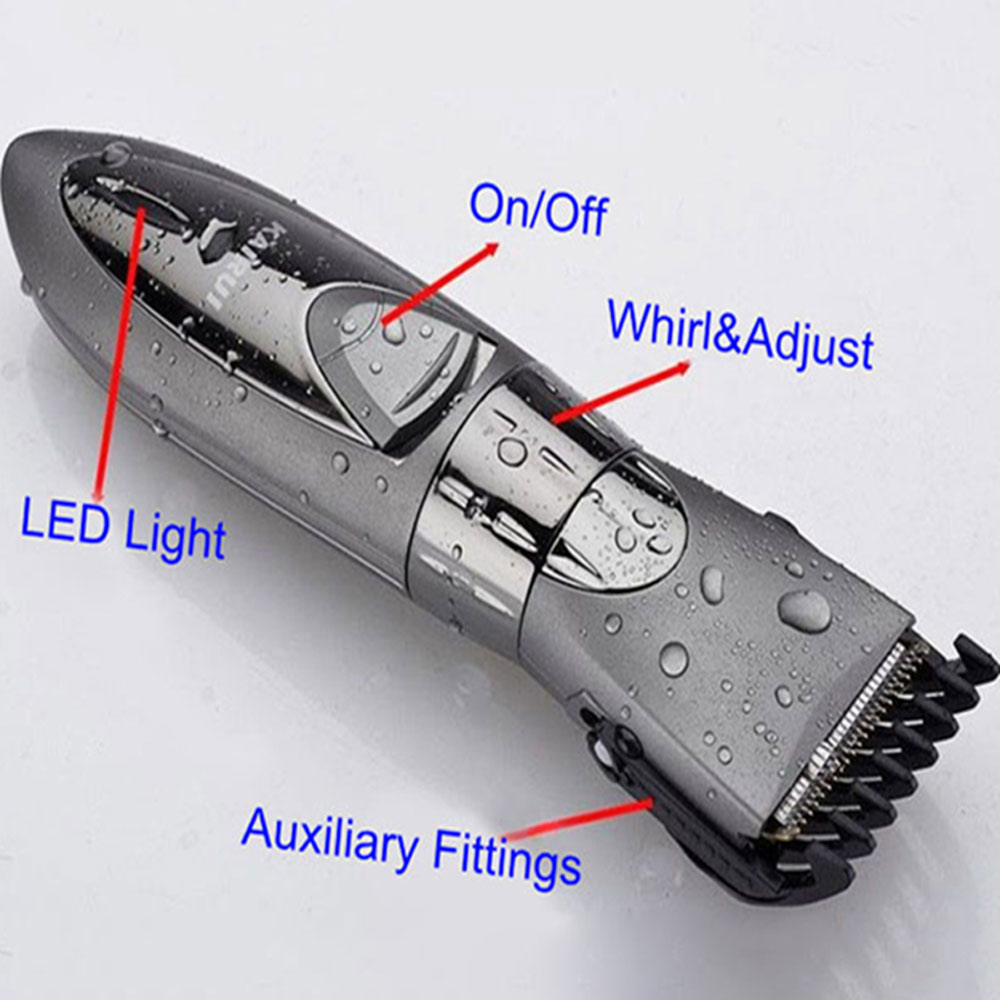 Child Baby Hair Trimmer Cutting Waterproof Electric Hair Clipper Razor
