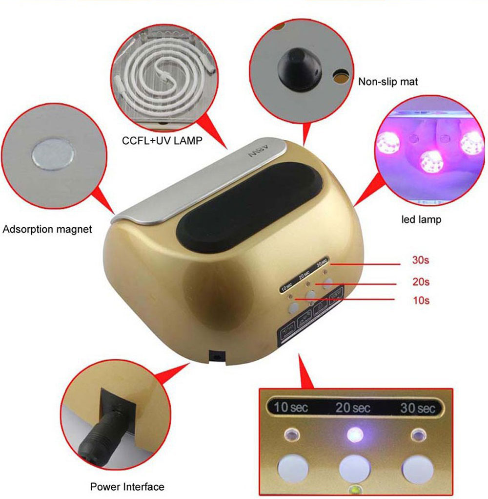 48W High Automatic Light Phototherapy Slide Type LED+UV Manicure LED Nail Art Power Lamp