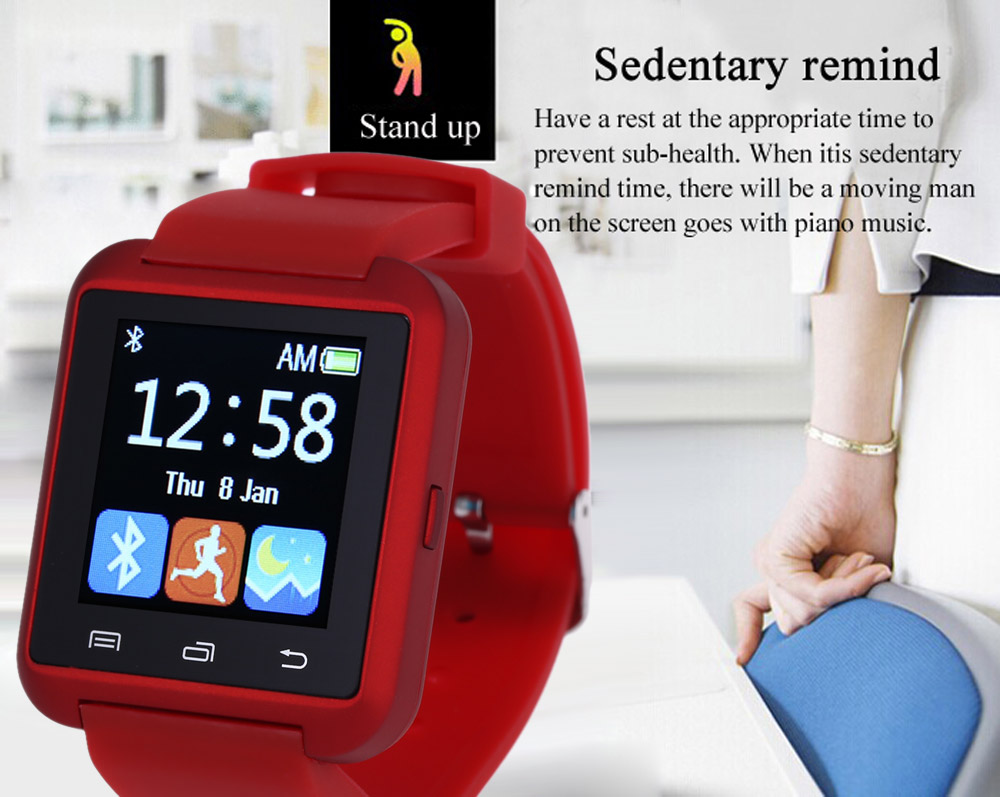 U8S Smart Bluetooth Watch with Pedometer for Sport