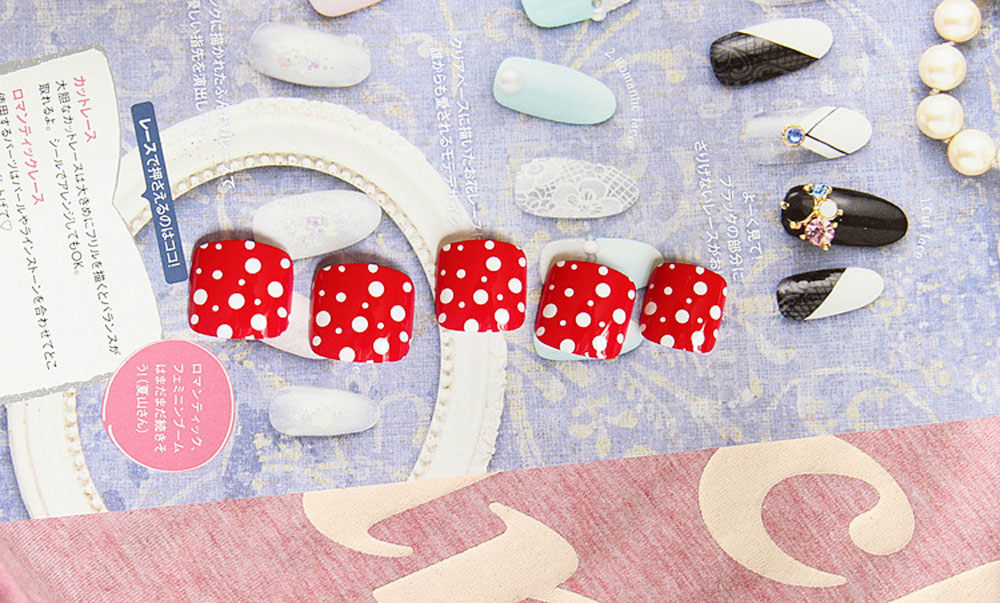 3D Perfect Sunmer Mixed Designs Bricolage Nail Stickers Adhésif double face pour orteils
