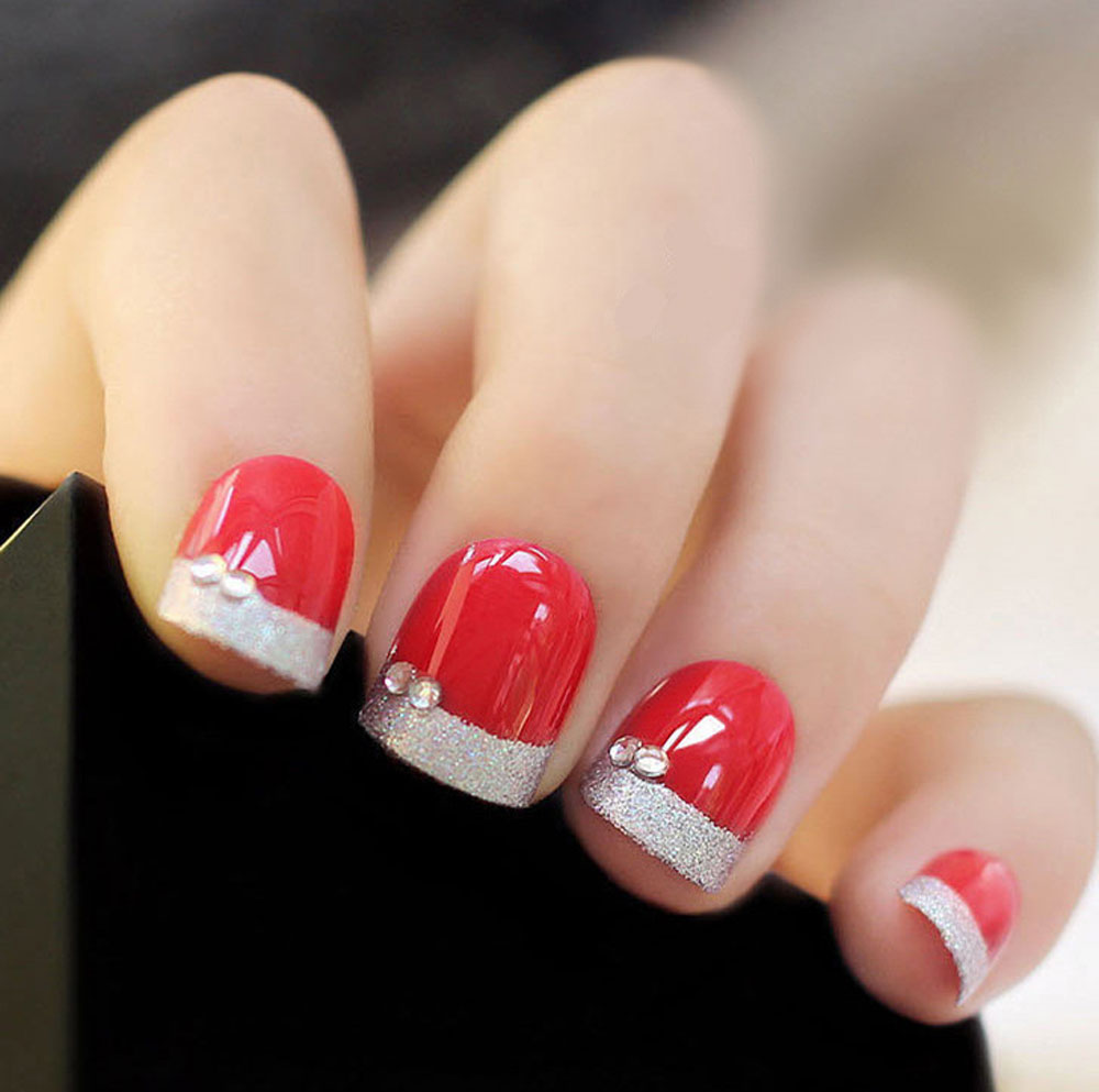 Wine Red Elegant Wrapping Small Short Manicure Patch Nail Sticker