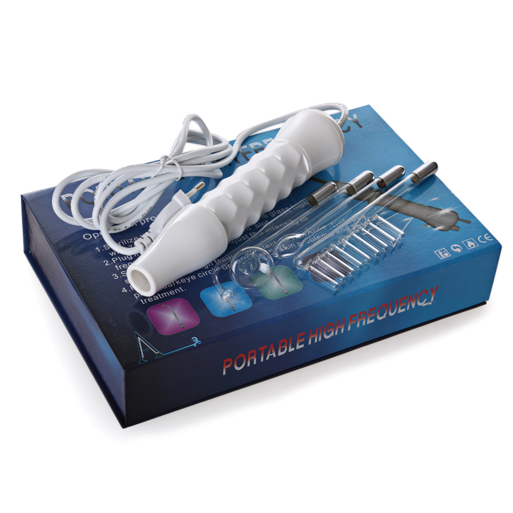 Hand Holding High Frequence Instrument Electrotherapy Spot Acne Remover