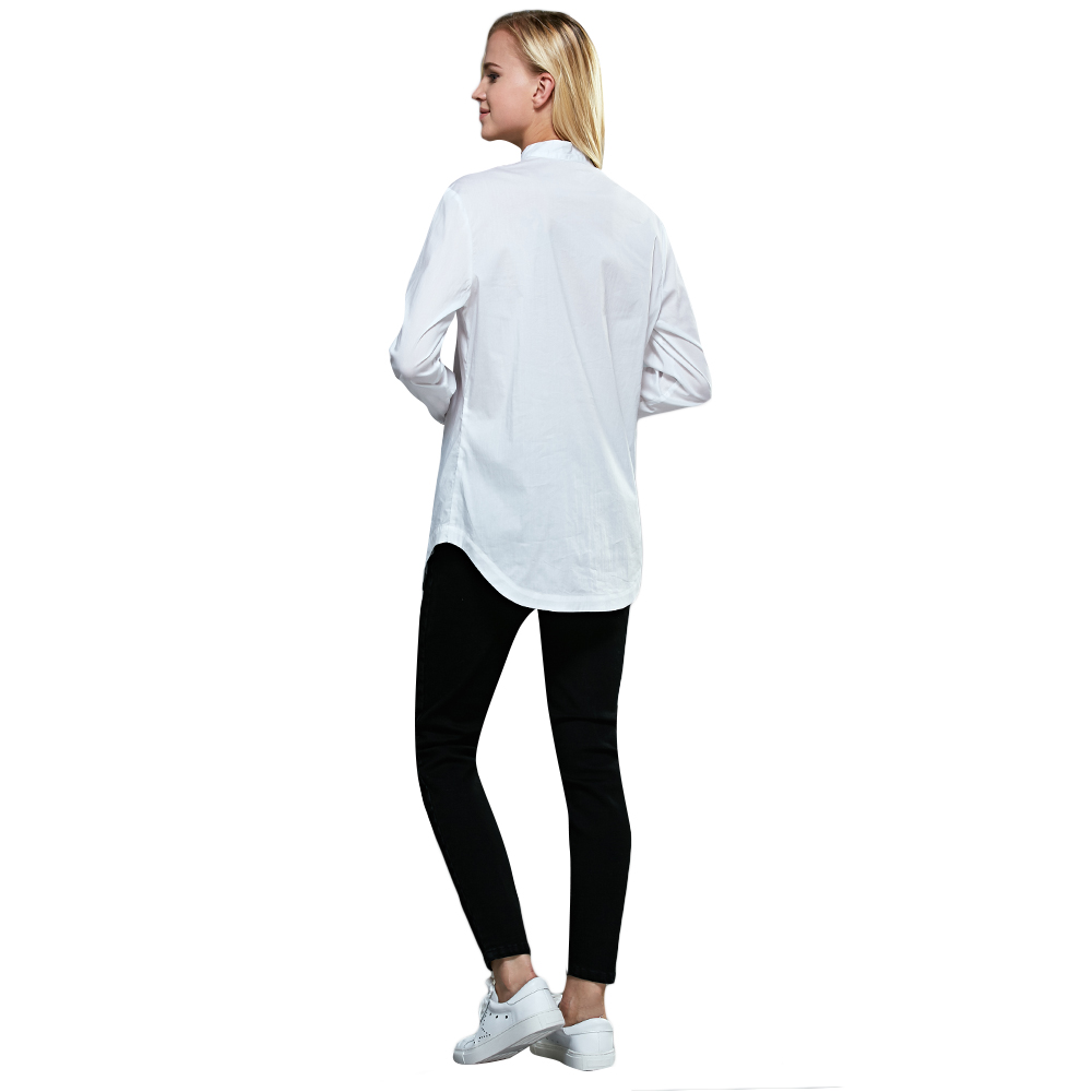Chic Mid Waist Solid Color Skinny Women Pants
